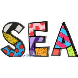 SEA Word Art for Table Top or Wall by Romero Britto