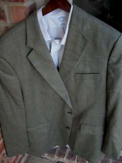 Brooks Brothers Tan Beige 2 Btn Mens Blazer Jacket Sport Suit Coat 44R
