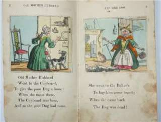 Old Mother Hubbard c.1835 Hand Coloured Engravings