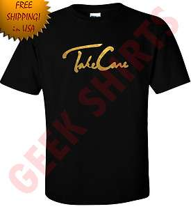GOLD OVO Drake Take Care t shirt OVOxo owl YMCMB Lil wayne shirt S 5X