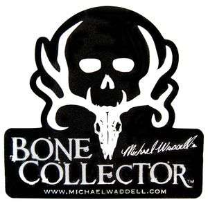 Bone Collector Black Skull ~ WINDOW DECAL TRUCK AUTO