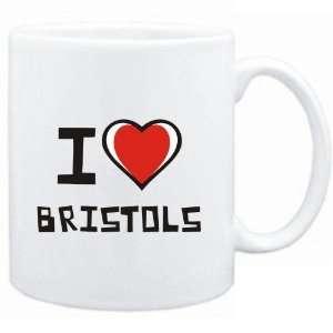 Mug White I love Bristols  Cats