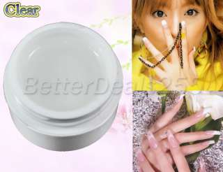 High Quality 4 x Pink Clear White Acrylic Nail Art UV Builder Gel Tips