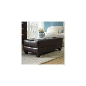 Riverside Storage Ottoman Coffee Table with Wood Legs Home & Kitchen