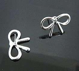 Silver Color Butterfly Bow Korean Fashion Earrings Z412