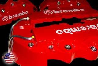 RED 10.5 F&R BREMBO RACING STYLE BRAKE CALIPER COVER SET NO PAINT