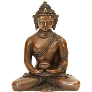 Buddha in Dhyana Mudra   Copper Sculpture Home & Kitchen
