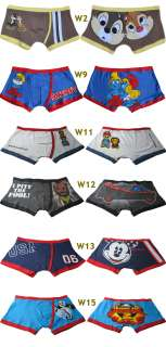 Six Choices Sexy Cartoon Boxer Brief Mens Underwear Size L XL Multi
