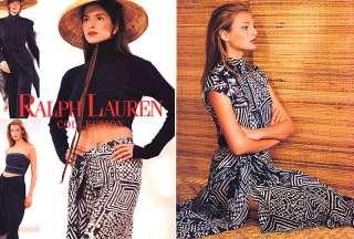 1994 Ralph Lauren Karen Mulder Bridget Hall magazine ad