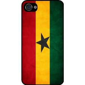 Rikki KnightTM Ghana Flag Black Hard Case Cover for Apple