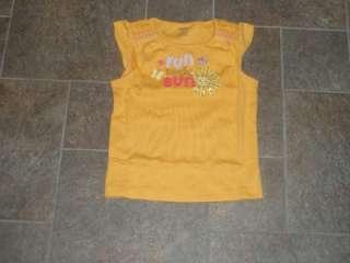NWT Gymboree Glamour Safari Yellow Sun Shirt 4 4T