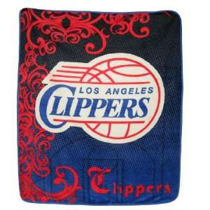 NBA Los Angeles Clippers Super Soft Plush Blanket / Fleece Couch Throw