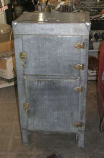Antique Metal ICE BOX Refrigerator