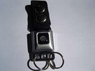 Official VW Logo Seat Belt style Key Chain Ring strap