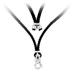 14K White Gold Plated Sterling Silver Adjustable Enhancer Necklace W