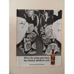Calvert Extra whiskey, 1971 print ad (2 women same dress