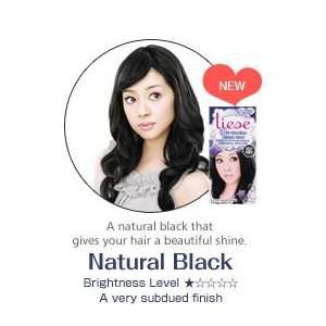 Liese Soft Bubble Hair Color (Natural Black)   Cover Gray Hair Beauty