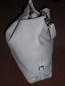 Extra LARGE Dooney & Bourke White Ivory Soft Pebbled Leather Hobo Bag