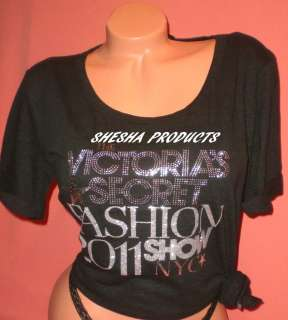 Victorias Secret FASHION SHOW 2011 Bling Oversized T  Shirt Small NWT