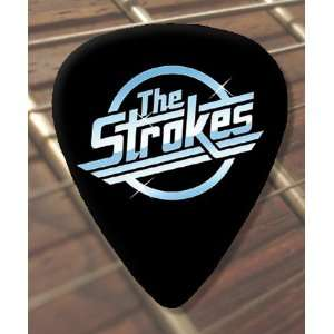 The Strokes Logo Premium Guitar Pick x 5 Medium: Musical
