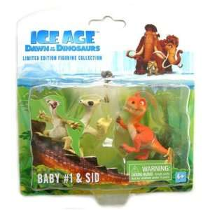 Ice Age 3 Dawn of the Dinosaurs   Baby 1 & Sid Figure Set Toys