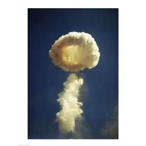 Mushroom cloud formed bomb testing 18.00 x 24.00 Poster Print