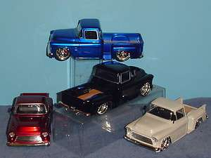 1955 CHEVY STEPSIDE PICKUP CHROMED SPOKE WHEELS 124 SET OF FOUR