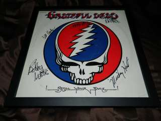 THE GRATEFUL DEAD signed STEAL YOUR FACE record by 5 JERRY GARCIA PHIL