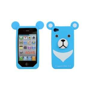 Silicone Cover Soft Case Skin for Apple iPhone 4 4S Blue Electronics