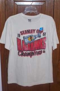 NEW Chicago Blackhawks 1961 Stanley Cup Retro Shirt 2XL