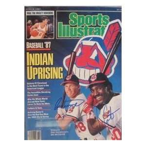 Cory Snyder & Joe Carter autographed Sports Illustrated