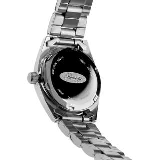 series stainless steel case date day windows luminous hands mineral
