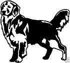 black vinyl decal golden retriever dog puppy fun sticker hunt