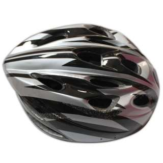 Bicycle Helmet Black with Silver PVC EPS Bicycle Cycling Riding sport