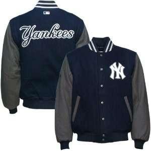 York Yankees Navy Blue Coaches Wool Varsity Jacket