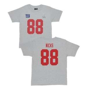 New York Giants Hakeem Nicks YOUTH Super Bowl Name and Number