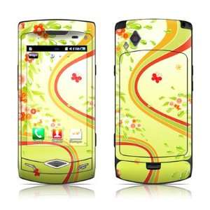 Flower Splash Design Protective Skin Decal Sticker for Samsung Wave
