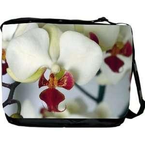 Rikki KnightTM Orchid Design Messenger Bag   Book Bag