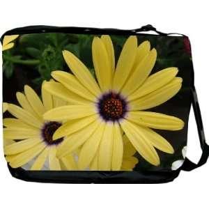 Rikki KnightTM Yellow Flowers Messenger Bag   Book Bag