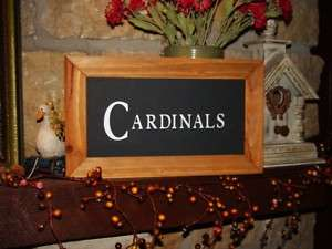 LETTERED RUSTIC CEDAR FRAMED CARDINALS MAN CAVE BAR DISPLAY SIGN