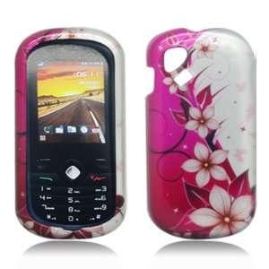 For T mobil Sparq Alcatel OT 606A Accessory   Pink Flower Design Hard