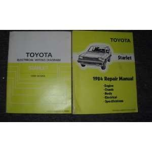 1984 Toyota Starlet Service Shop Repair Manual Set OEM (Engine/Chassis