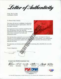 Worn & Signed MICHAEL JACKSON Beat It Jacket from VICTORY TOUR (COA