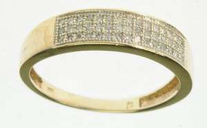 LADIES 10K SOLID YELLOW GOLD DIAMOND WEDDING BAND ESTATE RING J209013
