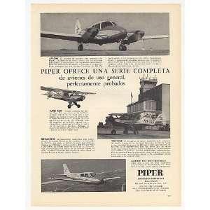 1959 Piper Apache Cub Comanche Tri Pacer Spanish Print Ad
