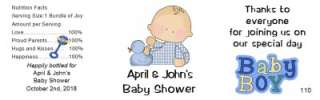 Baby Shower Water Bottle Labels Waterproof 24 Quantity