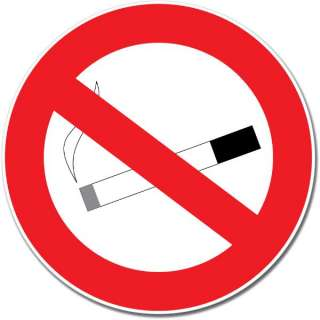 No Smoking Sign Wall Window Car Vinyl Sticker Decal Mural   Pick Size