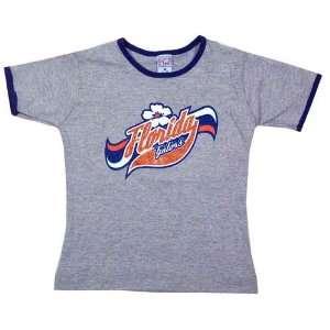 Florida Gators Ash Toddler Roxy Girl T shirt W/Royal Blue
