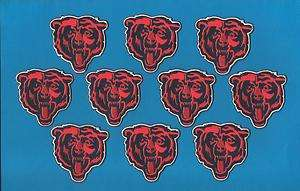 10 Lot Chicago Bears NFL Football Iron On Hat Patches Crests