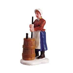 Lemax Christmas Village Collection Churning Butter Figurine #52046